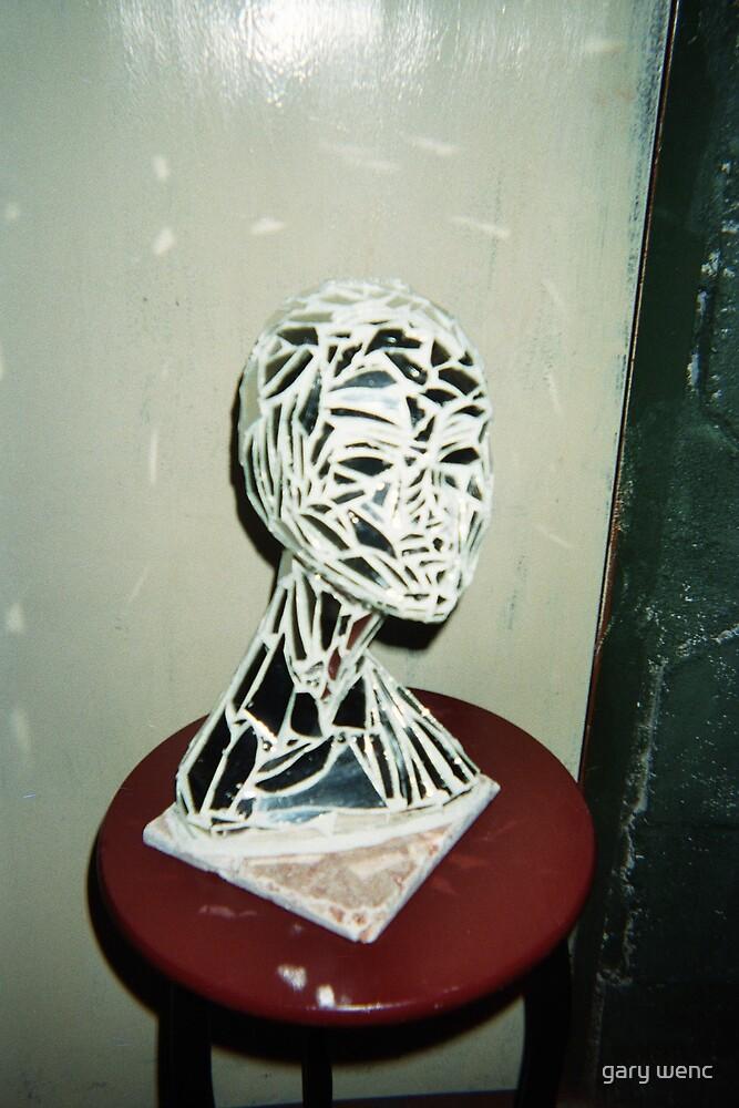 female mirrored head by gary wenc