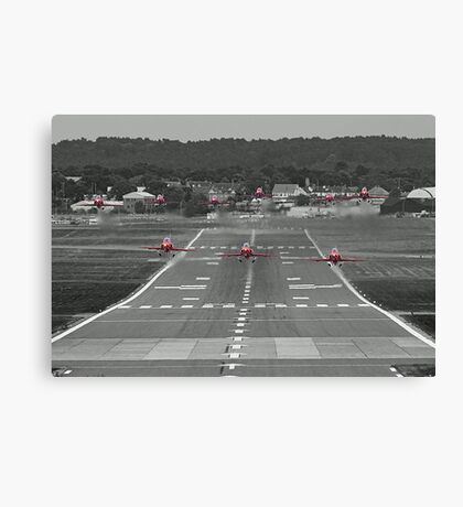 The Red Arrows Take Off - Wheels Up Canvas Print
