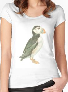 """""""Puffin"""" Women's Fitted Scoop T-Shirt"""