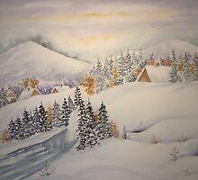 Winter Scene by Ilunia Felczer