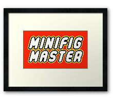 MINIFIG MASTER Framed Print