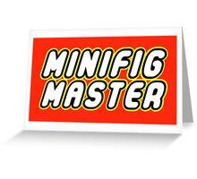 MINIFIG MASTER Greeting Card
