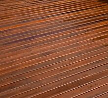 Beautiful mahogny hardwood deck floor by Ron Zmiri