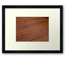 Beautiful mahogny hardwood deck floor Framed Print
