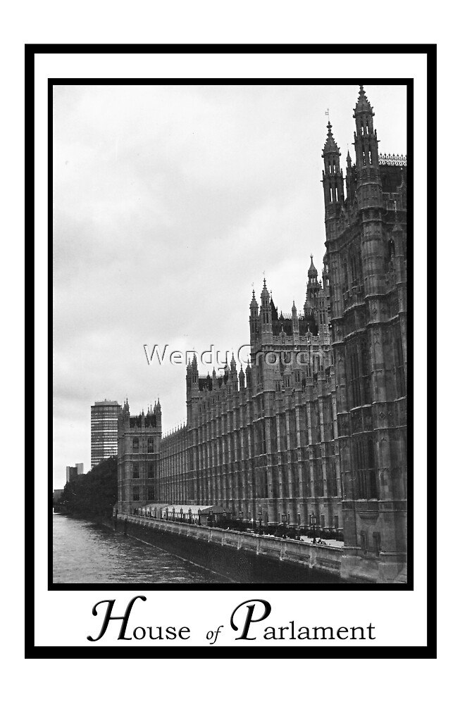 House of Parlament and the Thames River by Wendy Crouch