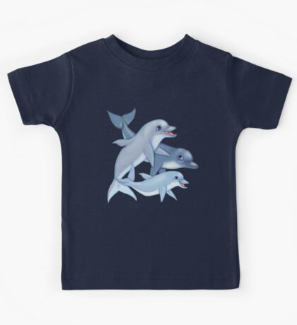 Dolphin Family Kids Tee