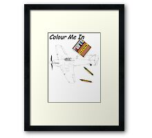 Colour me  Hurricane 1 Framed Print