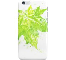 Imprint of Maple Leaf 4 iPhone Case/Skin