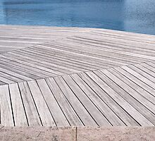 Beautiful  wooden jetty dock deck by Ron Zmiri