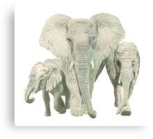 """""""Elephants"""" Canvas Print"""