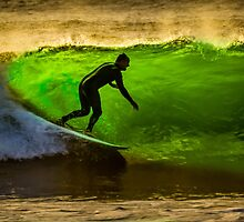 Bells Beach Green by Russell Charters