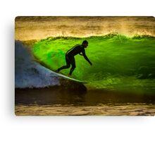 Bells Beach Green Canvas Print