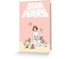 Disney Princess Leia Greeting Card