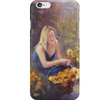 Collecting Daffodils iPhone Case/Skin