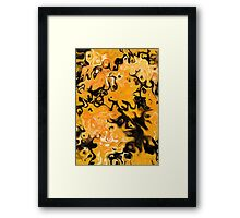 Volatile dangerous abstract art yellow back Framed Print