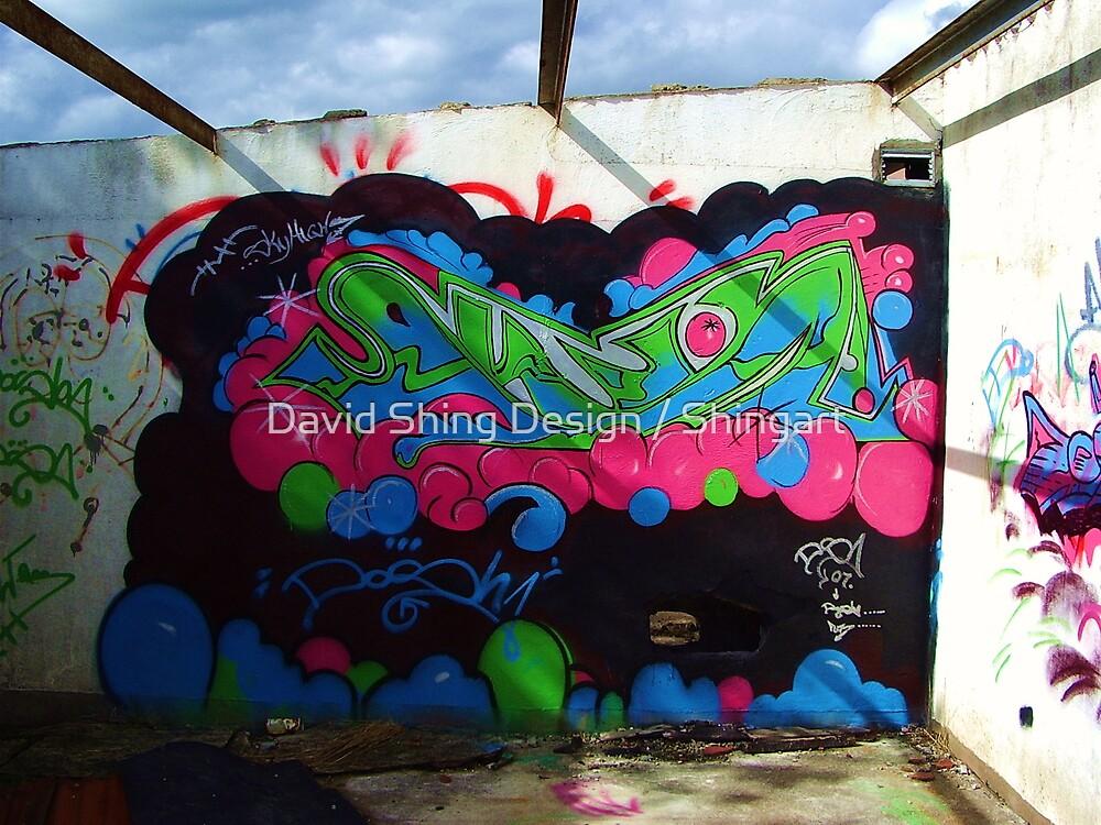 Graffiti work by David Shing Design / Shingart