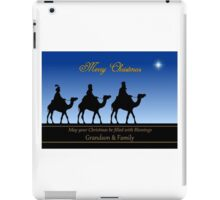 The Three Magi to Grandson and Family  iPad Case/Skin