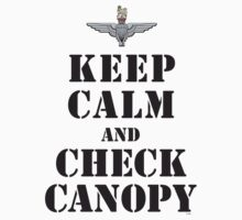 KEEP CALM AND CHECK CANOPY - PARACHUTE REGIMENT by PARAJUMPER