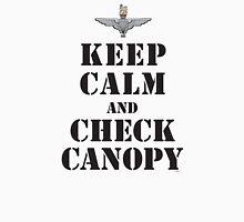 KEEP CALM AND CHECK CANOPY - PARACHUTE REGIMENT Unisex T-Shirt