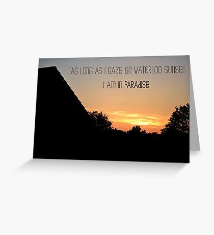 Waterloo Sunset - The Kinks Greeting Card