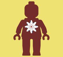 Minifig with Atom Symbol  Kids Tee