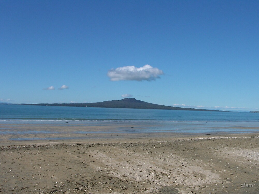 Rangitoto Island and The Cloud by cfam