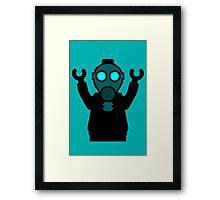 Apocalyse Minifigure wearing Gasmask Framed Print