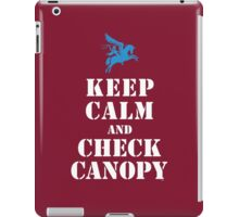 KEEP CALM AND CHECK CANOPY - PEGASUS iPad Case/Skin