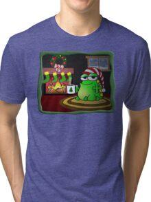 Mr. Frog's Fireside Holiday Tri-blend T-Shirt