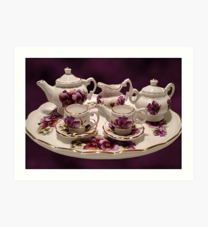 TEA SET FOR TEA TIME >PICTURE AND OR CARD... Art Print