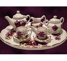 TEA SET FOR TEA TIME >PICTURE AND OR CARD... Photographic Print