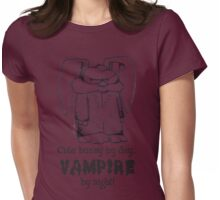 Vampire Bunny (ink) Womens Fitted T-Shirt