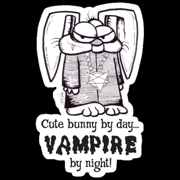 Vampire Bunny (ink) by Crockpot