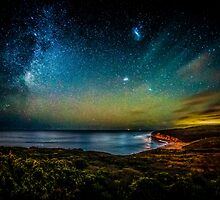 Bells Beach Starry Night by Russell Charters