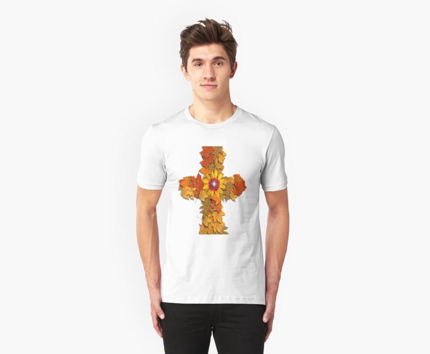 Leaf Cross by kabsannie