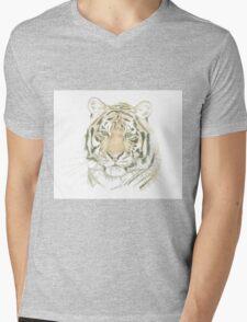"""""""Tiger"""" Mens V-Neck T-Shirt"""