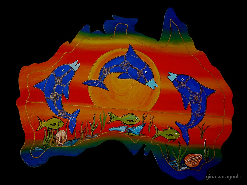 dolphins by gina varagnolo
