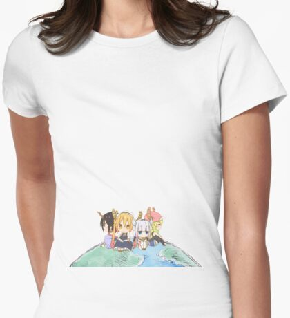 Dragon planet Womens Fitted T-Shirt