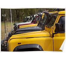 Land Rover Defenders Poster