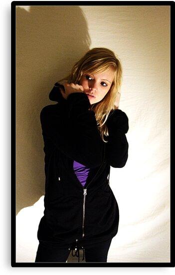 Sanna in black & purple by Pestbarn
