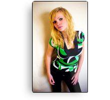 Sanna in green Metal Print