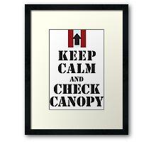 CHECK CANOPY - PATHFINDER PLATOON Framed Print