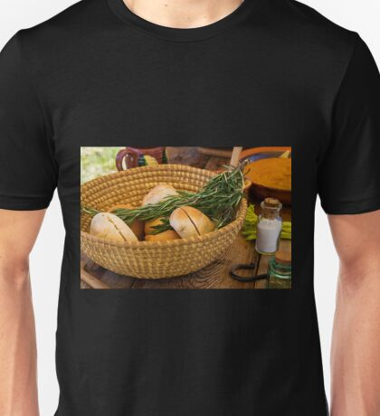 Food - Bread - Rolls and Rosemary Unisex T-Shirt