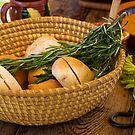 Food - Bread - Rolls and Rosemary by Mike  Savad