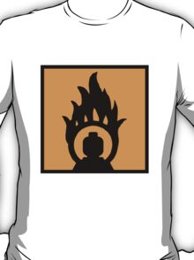 MINIFIG IN FLAME LOGO  T-Shirt