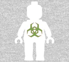 White Minifig with Radioactive Symbol One Piece - Long Sleeve