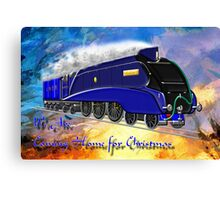 We Are Coming Home for Christmas - greeting card Canvas Print
