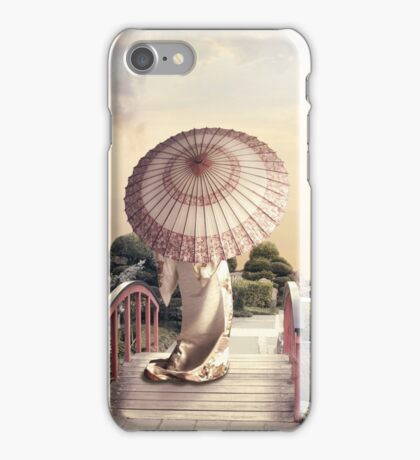 Girl with Parasol iPhone Case/Skin