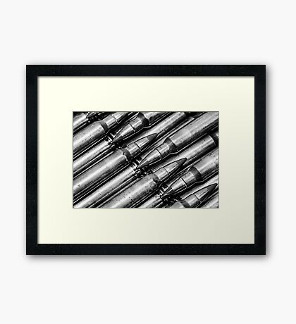 Green Tips (Black & White) Framed Print