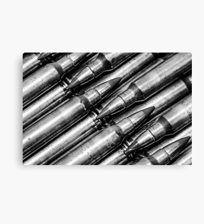 Green Tips (Black & White) Canvas Print